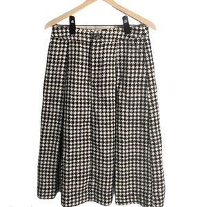Who what wear birdcage houndstooth midi skirt 10